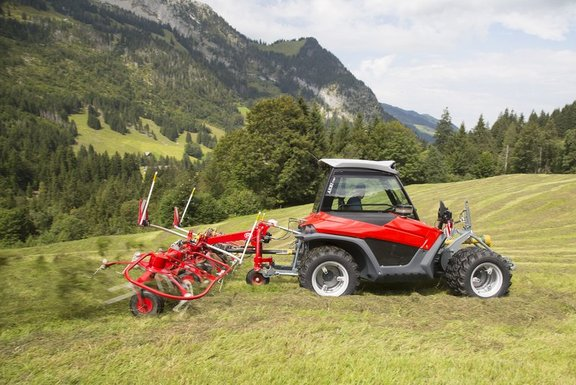 NEW Cabin for AEBI Terratrac, versatile implement carriers for use in sloping terrain